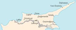 Cipro del Nord - Mappa
