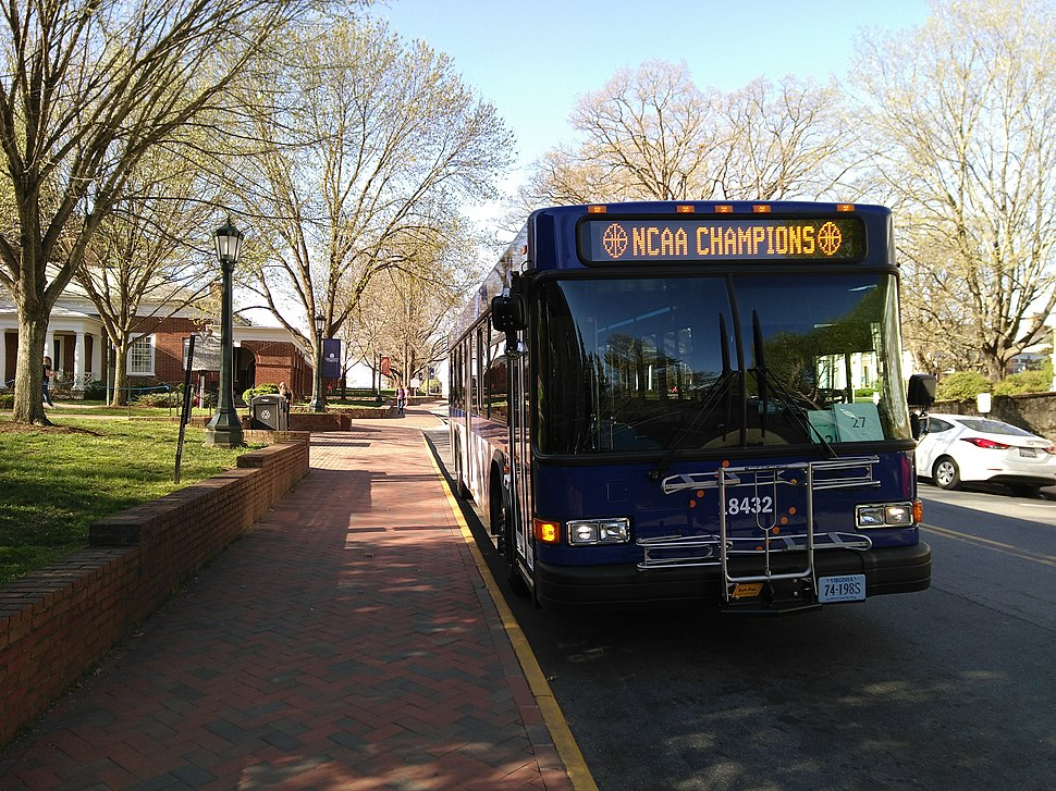 Northline Express (NLX) bus of the University Transit Service of the University of Virginia - IMG 20190410 091527
