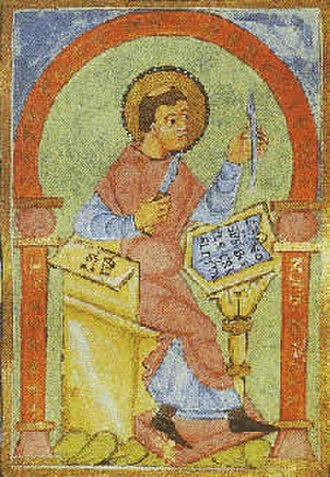 Notker the Stammerer - Notker Balbulus, from a medieval manuscript