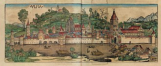 Ulm - Ulm in the 1493 Nuremberg Chronicle.