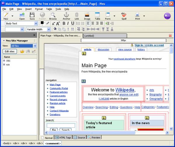 Nvu Wikiwand