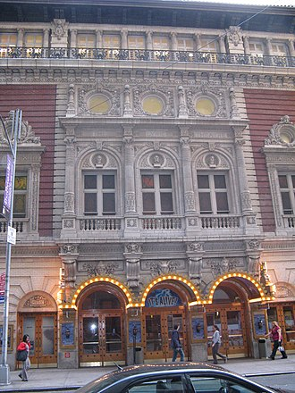 Lyric Theatre (1903 New York City) - Former 43rd St. facade of Lyric Theatre in 2008,  now the back of the Foxwoods Theatre
