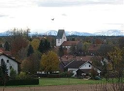 Blick auf Oberhaching