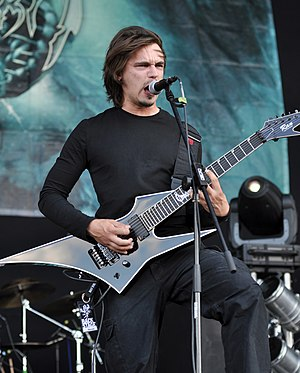 Obscura (band) - Founder and frontman Steffen Kummerer with his seven-string signature Ran guitar