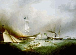 Burning of the Ocean Monarch (1850), Samuel Walters