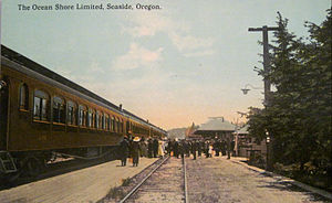 Spokane, Portland and Seattle Railway - Image: Ocean Shore Limited Spokane Portland and Seattle Railroad