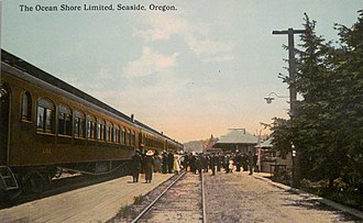 Spokane, Portland and Seattle Railway - Image: Ocean Shore Limited Spokane Portland and Seattle Railroad