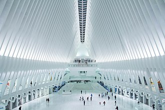 Port Authority of New York and New Jersey - Inside of the World Trade Center Transportation Hub.