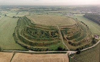 Old Oswestry - Aerial view of Old Oswestry hill fort