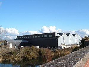 RAF Weston-super-Mare - Old aircraft hangar, later used as a factory