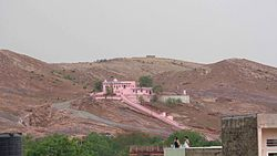 Hills inside the Old city and Ghataliya Balaji temple situated on this hill