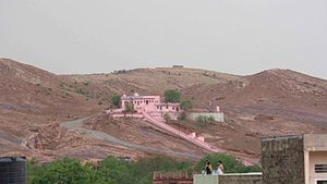 Sawai Madhopur - Hills around the old city and the Ghataliya Balaji temple