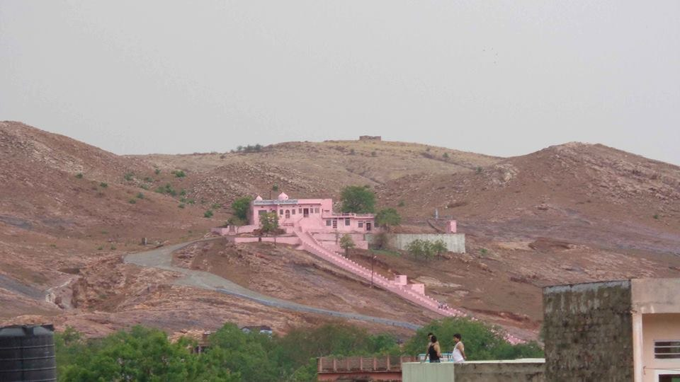 Hills around the old city and the Ghataliya Balaji temple