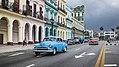 Oldtimers on Paseo de Marti, Havana, Cuba (41807460714).jpg