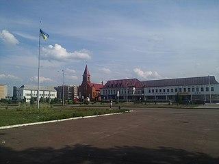 Olevsk City in Zhytomyr Oblast, Ukraine