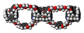 Olympiadane molecules spacefill.png