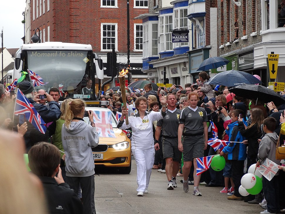 Olympic torch relay through Newport