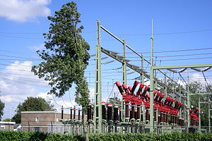 Electric power industry - Bolsward Substation, the Netherlands