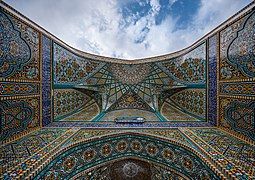 One of the iwan ceilings of Fatima Masumeh Shrine, Qom, Iran.jpg