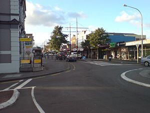 Onehunga - Onehunga Mall from near the southern end