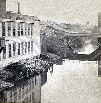 Onondaga Creek - Onondaga Creek at Fayette Street about 1885