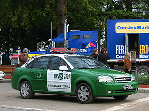 Black and white (police vehicle) - Carabineros de Chile Opel Optra 1.6 ls