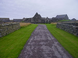 Argyll - Oronsay Priory, Oronsay, Inner Hebrides was recently 'improved' in anticipation of Queen Elizabeth's visit.