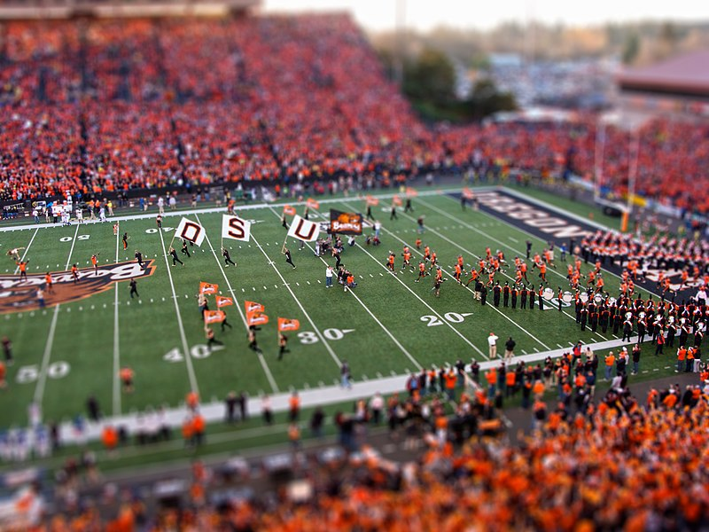 Oregon State University Civil War Football Game Tilt-Shift Miniature Oregon State University Civil War Football Game Tilt-Shift Miniature