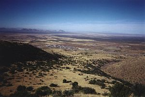 Organ, New Mexico - Organ as seen from the San Agustin Pass looking north/west