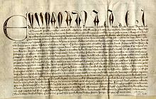 Photograph of medieval charter