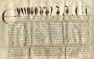 Digital image of the 1326 Oriel College Charter