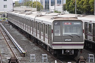 Tanimachi Line - Image: Osaka Subway Series New 20 002 JPN