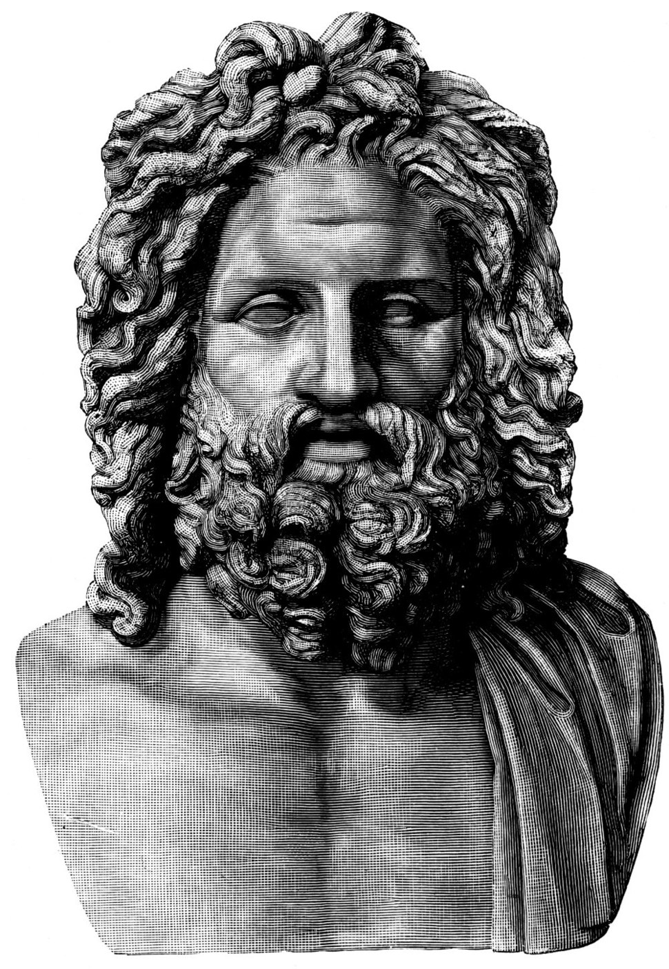 Otricoli Zeus - 1889 drawing