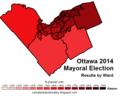 Ottawa 2014 mayoral election map.png