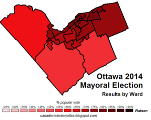 Ottawa 2014 mayoral election map.png