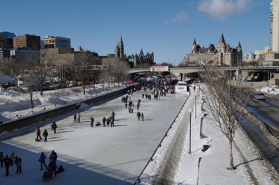 Ottawa Rideau Canal Skating Chateau Laurier Parliament
