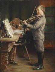 Garçon jouant du violon