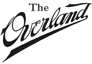 Overland Automobile - Image: Overland 1909 logo