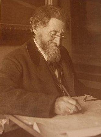 Peder Vilhelm Jensen-Klint - Peder Vilhelm Jensen-Klint at his desk