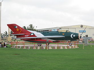 Shenyang J-6 - A retired Pakistan Air Force F-6 on display.