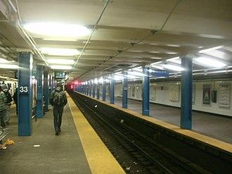 33rd Street station (PATH) - Image: PATH 33 Street vc