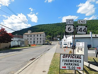 Pennsylvania Route 144 - PA 144 approaching US 6 in Galeton