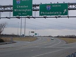I-95 meeting the PA 420