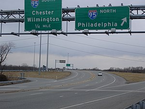 Pennsylvania Route 420 - Northbound PA 420 at interchange with I-95.