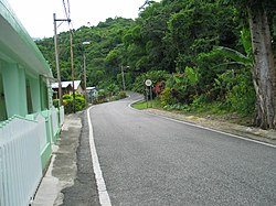 A section of rural Barrio Real in Ponce, Puerto Rico, along Route PR-511.