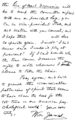 PSM V77 D421 Handwritten note of william james concerning his health.png
