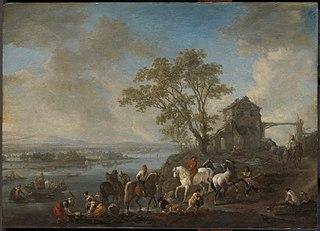 Horsepond on a river