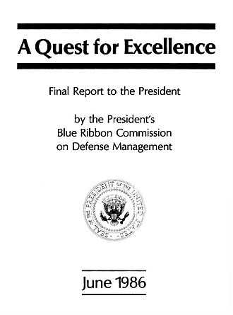 Packard Commission - Title page of the Final Report of the Packard Commission to the President.
