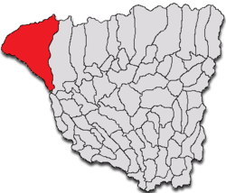 Location of Padeș