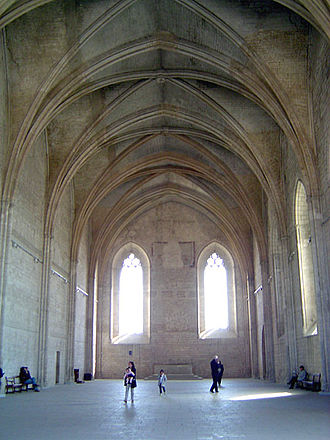 Palais des Papes - The Grand Chapel, where the Avignon popes worshiped.